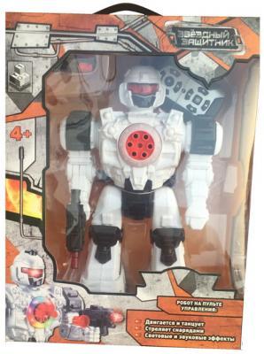 Боевой робот 1Toy Звездный защитник 26 см двигающийся на радиоуправлении со звуком светящийся 1toy робот трансформер звездный защитник истребитель 7 см