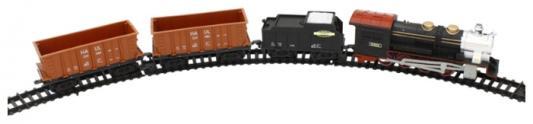 """Железная дорога 1toy """"Восточный Экспресс""""320см.,12дет.,свет,звук,паровоз,тендер, 2 платформы-контейнера.рельс 3,5см Т54441"""