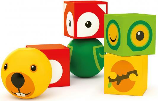Кубики Brio на магнитах с животным от 1 года 6 шт
