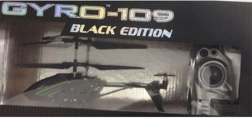 Вертолёт на радиоуправлении 1toy GYRO-109 - Black Edition металл от 8 лет черный Т58768 игрушка 1toy gyro 109 вертолет с гироскопом т52819