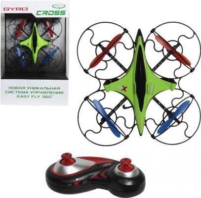 Купить Квадрокоптер на радиоуправлении 1toy GYRO-Cross пластик от 8 лет зелёный 2, 4GHz 4 канала 16х16см, 6-осевой, real headless режим, Радиоуправляемые игрушки