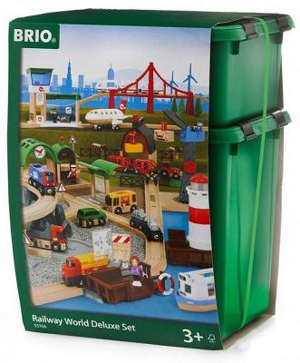 """Игровой набор Brio супер-делюкс """"Город"""" с аэропорт.,порт,ферма,автостанц.,106 эл.,звук,свет,117х147см,кор."""