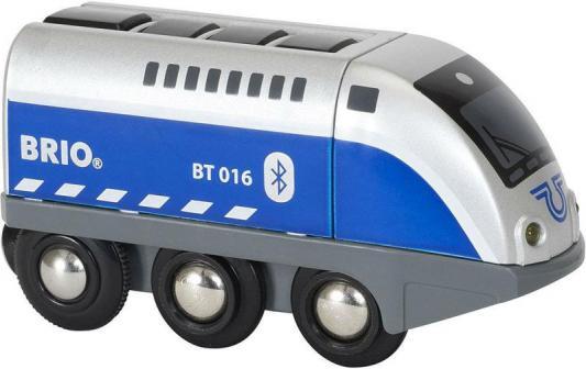 Паровозик Brio управляемый с мобильного приложения,свет,звук
