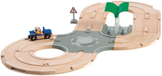 Игровой набор Brio с автодорогой,перекрестком,заправкой,1 фиг.,1 машинка
