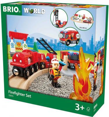 """Игровой набор Brio """"Пожарная станция"""",свет,звук,18 предметов"""