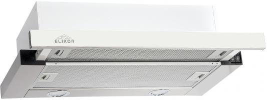 Вытяжка встраиваемая Elikor Интегра GLASS 50Н-400-В2Г серебристый стекло белое