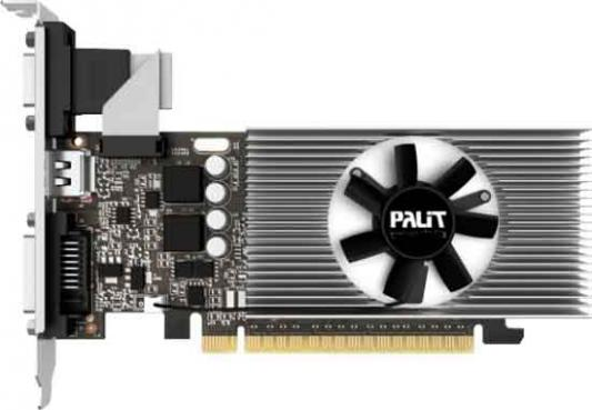 Видеокарта 1024Mb Palit GeForce GT730 PCI-E 64bit DDR5 DVI HDMI CRT HDCP Oem видеокарта 6144mb palit geforce gtx1060 pci e 192bit gddr5 dvi hdmi dp hdcp ne51060015j9 1061d oem