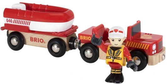 Игровой набор Brio машина с прицепом-спасательной лодкой,фигурка,26х5х9см,кор.