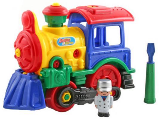 Конструктор Play Smart Паровоз с отверткой play smart play smart конструктор умная стройка грузовой термнал