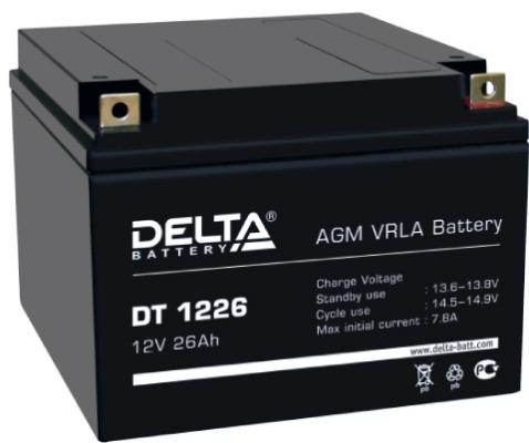 Батарея Delta DT 1226 26Ач 12В delta battery dt 1207 12v 7ah