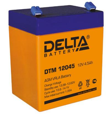 Батарея Delta DTM 12045 4,5Ач 12В электрошашлычница delta кавказ 4