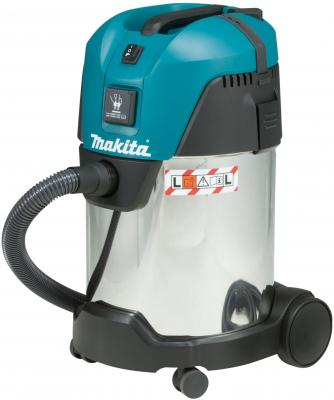 Промышленный пылесос Makita VC3011L сухая влажная уборка синий серый пылесос строительный makita vc3011l 1000 вт