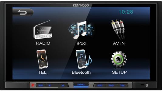 Автомагнитола Kenwood DMX100 6.8 800х480 USB MP3 FM 2DIN 4x50Вт черный автомагнитола kenwood kmm 103gy usb mp3 fm 1din 4х50вт черный