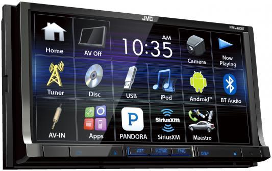 "Автомагнитола JVC KW-V420BT 7"" 800x480 USB MP3 DVD CD FM 2DIN 4x50Вт черный"