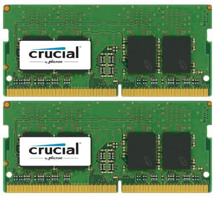 Оперативная память для ноутбуков SO-DDR4 16Gb (2x8Gb) PC4-17000 2133MHz Crucial CT2K8G4SFD8213