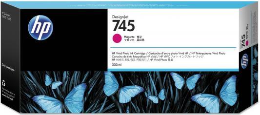 Картридж HP 745 F9K01A для HP DesignJet пурпурный картридж hp f9j51a 765 для hp designjet t7200 пурпурный 400мл