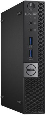 Неттоп DELL OptiPlex 3046 Micro Intel Core i3-6100T 4Gb 500Gb + 128 SSD Intel HD Graphics 530 Windows 7 Professional + Windows 10 Professional черный серебристый 3046-3454