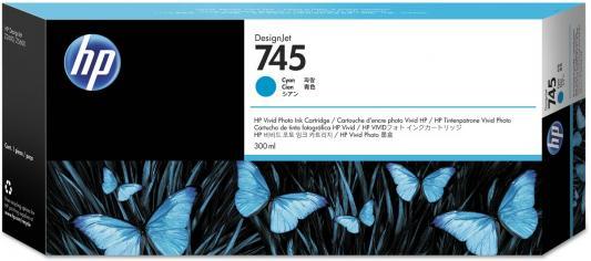 Картридж HP 745 F9K03A 300ml для HP DesignJet голубой hot sales 80 printhead for hp80 print head hp for designjet 1000 1000plus 1050 1055 printer