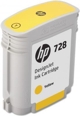 Картридж HP 728 F9J61A для НР DJ Т730/Т830 желтый картридж hp 728 f9j61a yellow 40 мл