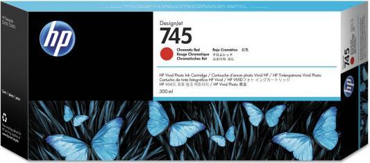 Картридж HP 745 F9K06A 300ml для HP DesignJet красный hot sales 80 printhead for hp80 print head hp for designjet 1000 1000plus 1050 1055 printer