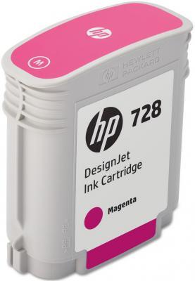 Картридж HP 728 F9J62A для HP DesignJet пурпурный картридж hp f9j51a 765 для hp designjet t7200 пурпурный 400мл