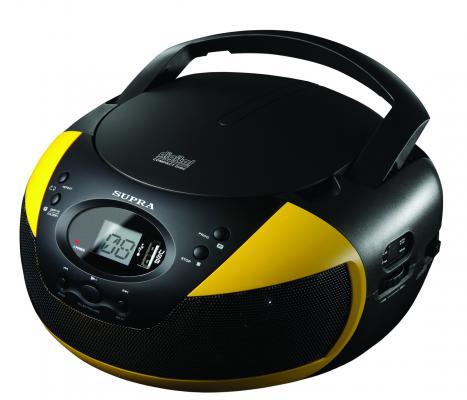 Магнитола Supra BB-CD121U черный/желтый