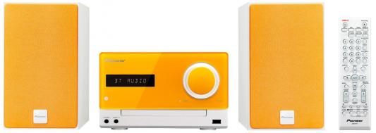 Микросистема Pioneer X-CM35-D 30Вт оранжевый сабвуфер pioneer ts w106m 250вт 1100вт 4ом