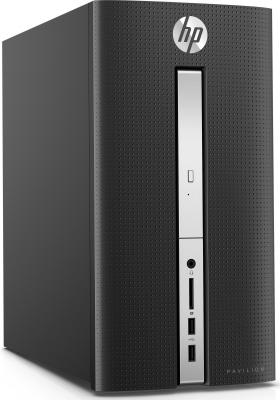 Системный блок HP HP Pavilion 510 510-p120ur G4400T 4Gb 1Tb AMD Radeon R5 435 2Gb DVD-RW Win10 клавиатура мышь черный Z0J93EA#ACB