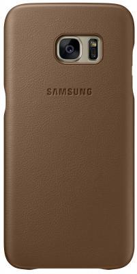 Чехол Samsung EF-VG935LDEGRU для Samsung Galaxy S7 edge Leather Cover коричневый