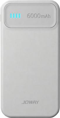 Внешний аккумулятор Joway JP61 6000 mAh белый серый внешний аккумулятор joway jp61 6000 mah белый серый