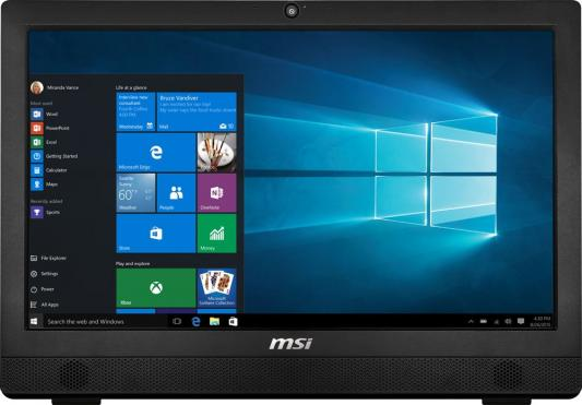 "Моноблок 23.6"" MSI Pro 24 6M-015RU 1920 x 1080 Intel Pentium-G4400T 4Gb 1Tb Intel HD Graphics 510 DOS черный 9S6-AE9311-015"