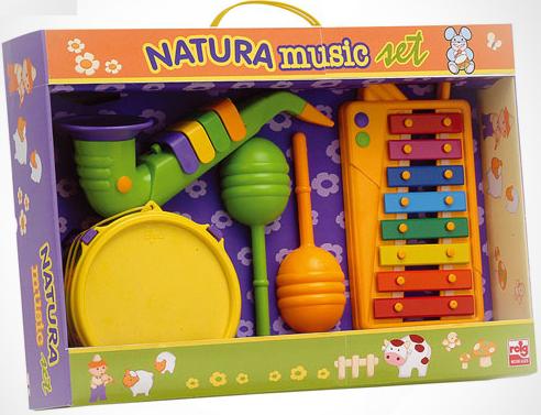 Набор музыкальных инструментов Reig (ксилофон, маракасы, саксофон, барабан) 220