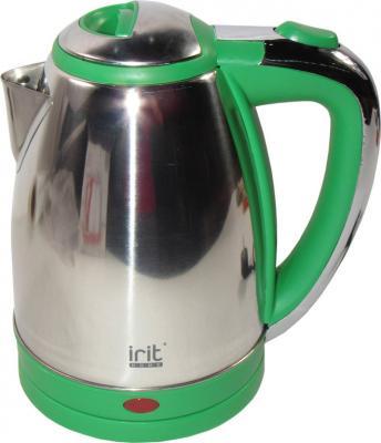 Чайник Irit IR-1314 1500 Вт зелёный 1.8 л нержавеющая сталь цена и фото