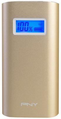 Внешний аккумулятор PNY PowerPack AD5200 золотистый P-B5200-4G01-RB
