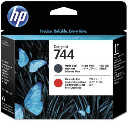 Печатающая головка HP 744 F9J88A для HP Designjet Z2600 Z5600 черный матовый красный печатающая головка hp 744 f9j87a для hp designjet z2600 z5600 желтый пурпурный
