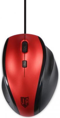 Мышь проводная Jet.A Comfort OM-U59 красный USB