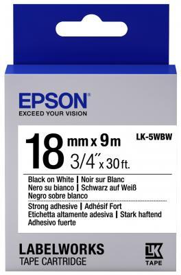Лента Epson LK-5WBW для Epson LabelWorks LW-400 400VP 700 900P C53S655012 принтер epson labelworks lw 700 ленточный 180dpi 6мм 9мм 12мм 18мм 24мм c51ca63100