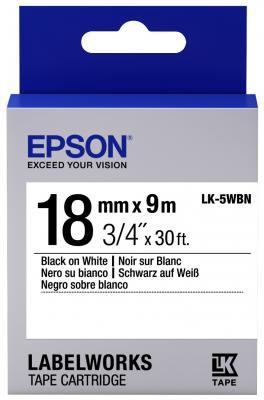Лента Epson LK-5WBN для Epson LabelWorks LW-400 400VP 700 900P C53S655006 oasis lk 5