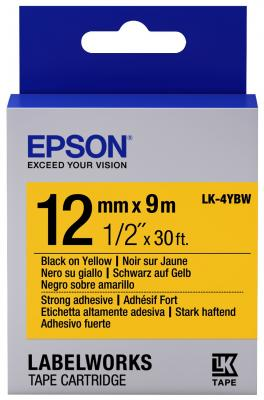 Лента Epson LK-4YBW для Epson LabelWorks C53S654014 лента epson lk 4tbw c53s654015