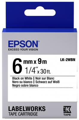 Лента Epson LK-2WBN для Epson LabelWorks C53S652003 original cc03main mainboard main board for epson l455 l550 l551 l555 l558 wf 2520 wf 2530 printer formatter