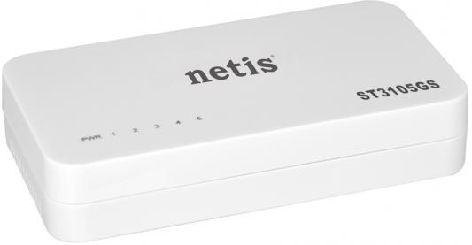 Коммутатор Netis ST3105GS 5 портов 10/100/1000Mbps коммутатор netis st3124g net switch 24port 1000m