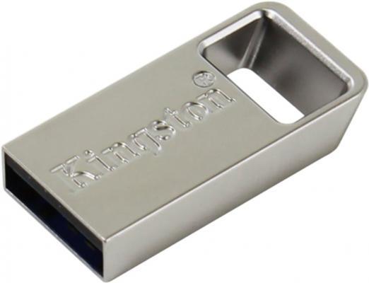 Флешка USB 128Gb Kingston DataTraveler Micro 3.1 DTMC3/128GB серебристый флешка kingston datatraveler 100 g3 128gb