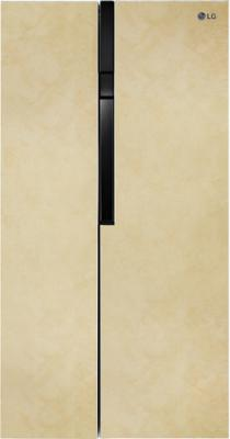 Холодильник LG GC-B247JEUV бежевый (двухкамерный) холодильник lg gc b247jeuv