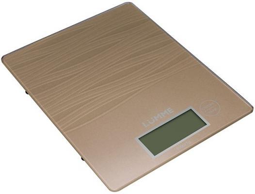Весы кухонные Lumme LU-1318 бронзовый