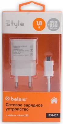 Сетевое зарядное устройство Bliss BS1407 microUSB 1A белый зарядное устройство зарядное устройство сетевое qtek s200 htc p3300 ainy 1a