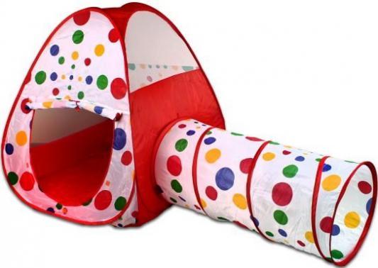 Игровая палатка Shantou Gepai Горошек с туннелем, сумка 941802