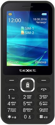 Мобильный телефон Texet TM-D327 черный 2.8