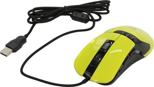 Мышь проводная Oklick 865G жёлтый USB цена 2017