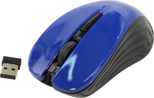 лучшая цена Мышь беспроводная Oklick 545MW чёрный синий USB