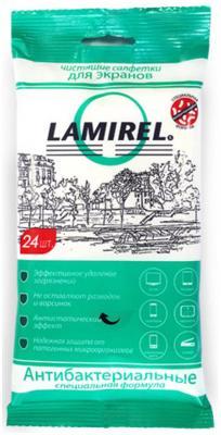 Влажные салфетки Fellowes Lamirel LA-21617(01) 24 шт влажные салфетки fellowes fs 22117 100 шт